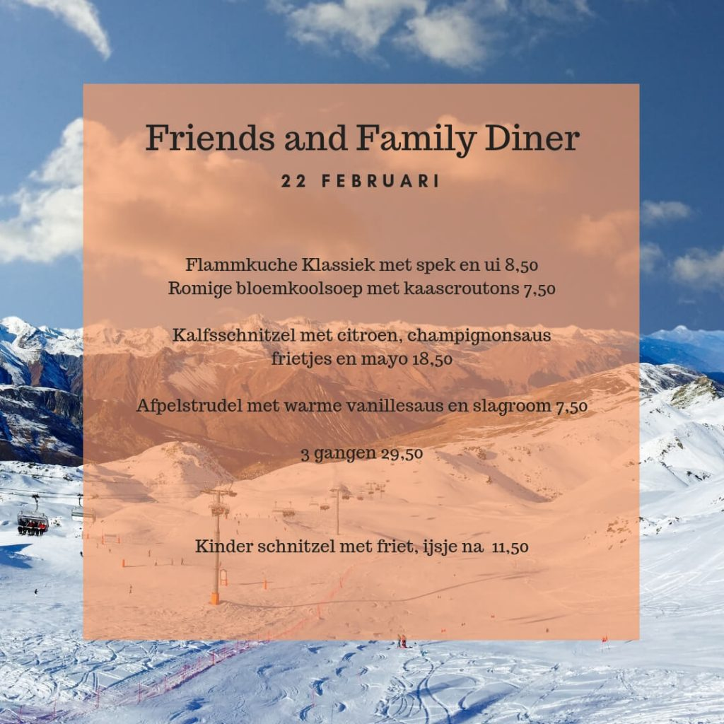 Friends & Family diner